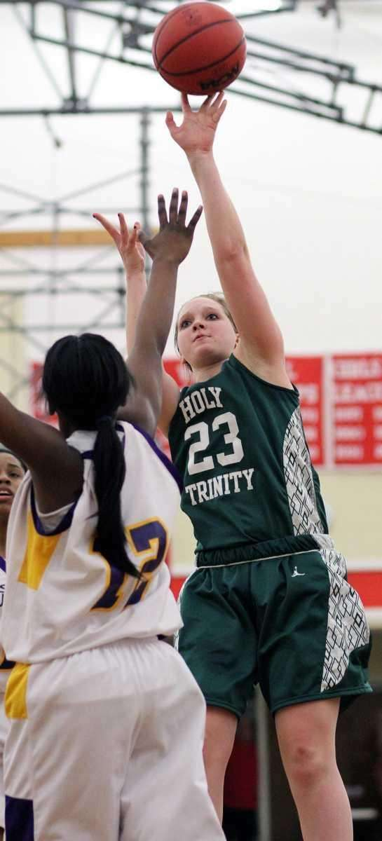 Holy Trinity's Katherine Poppe hits for two over