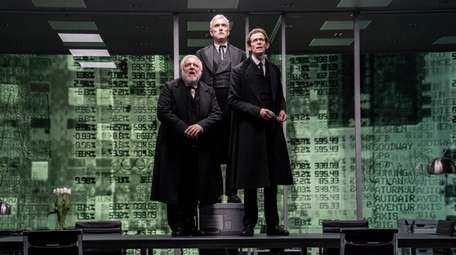 Simon Russell Beale, Ben Miles and Adam Godley