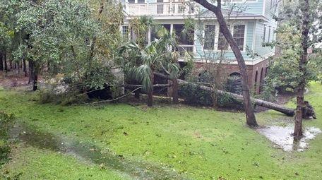 Hurricane Dorian's impact is seen in Mt. Pleasant,