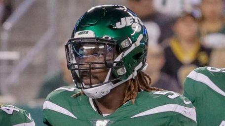 Jets inside linebacker C.J. Mosley waits for play