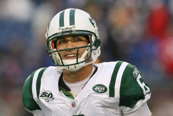 Mark Sanchez of the New York Jets smiles