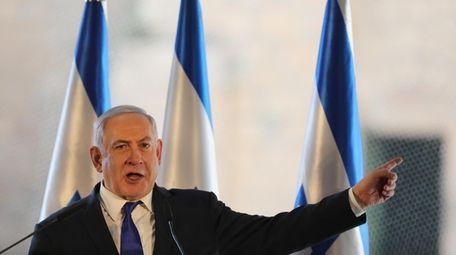 Israeli Prime Minister Benjamin Netanyahu at the Cave