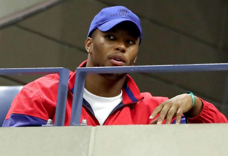 Giants running back Saquon Barkley attends the U.S.