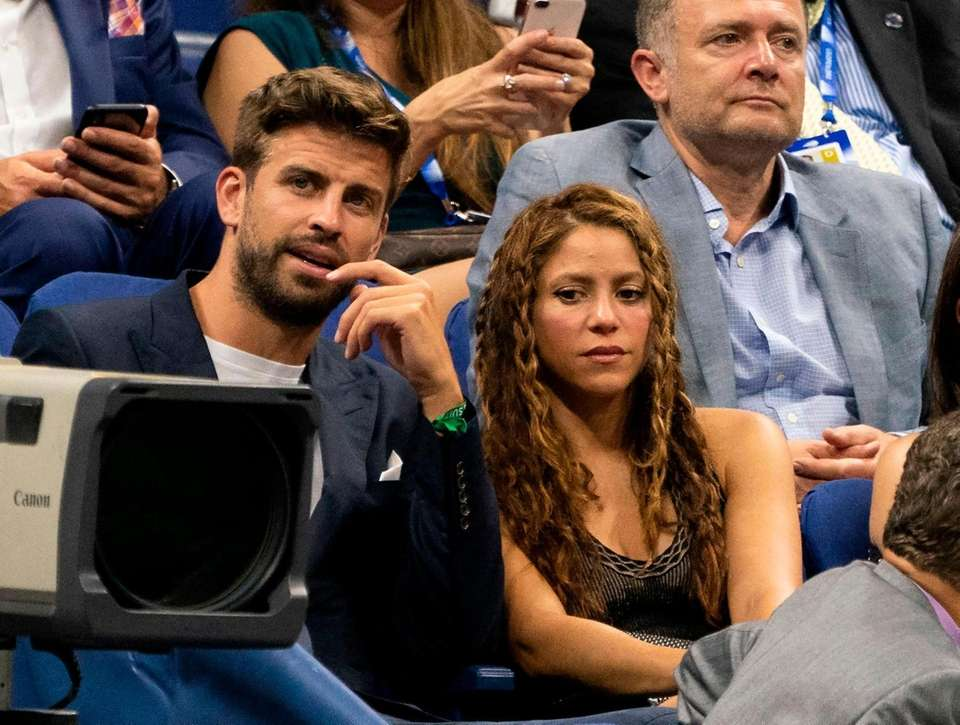 Spanish football player Gerard Pique and Colombian singer