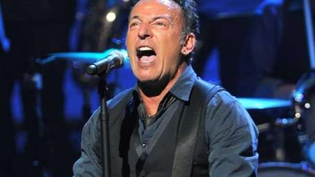 Bruce Springsteen performs during SiriusXM's concert celebrating 10