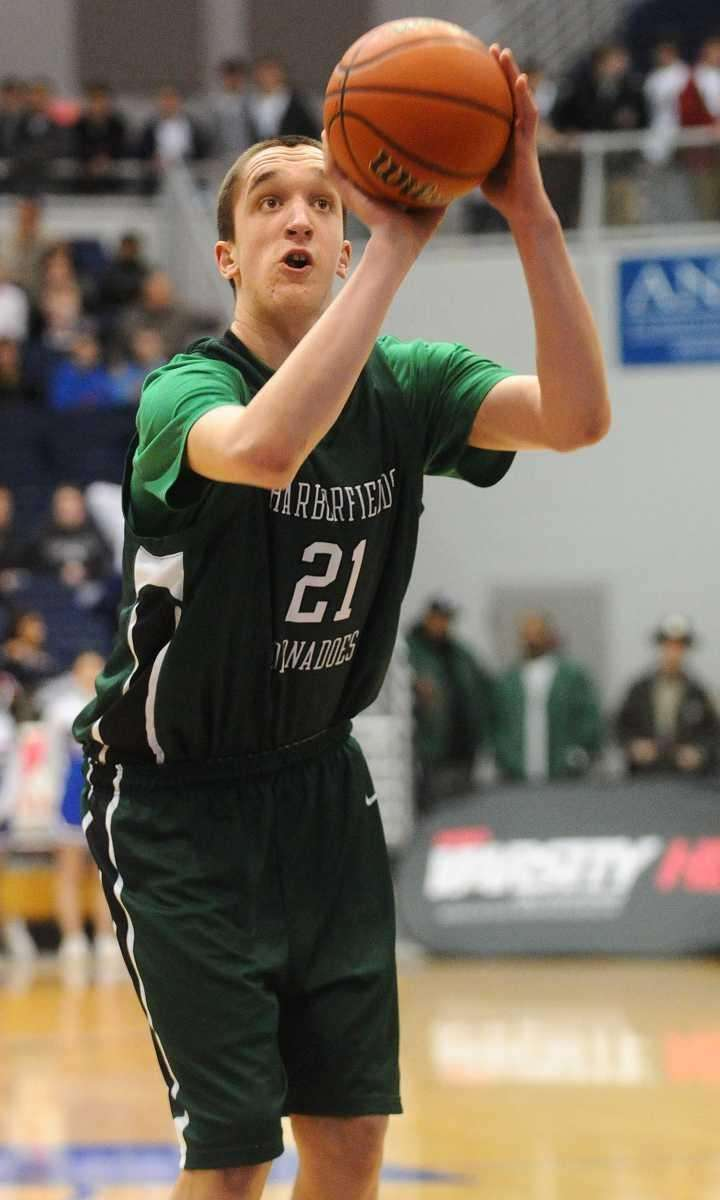 Harborfields senior Reed McLean shoots a free throw