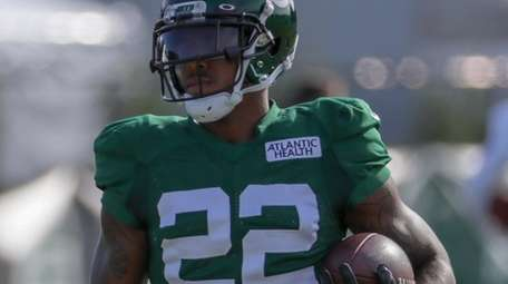 New York Jets cornerback Trumaine Johnson #22 participates