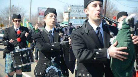 Members of the Thomas O'Shaughnessy Memorial Pipe Band