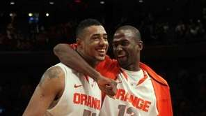 Fab Melo and Baye Keita of the Syracuse