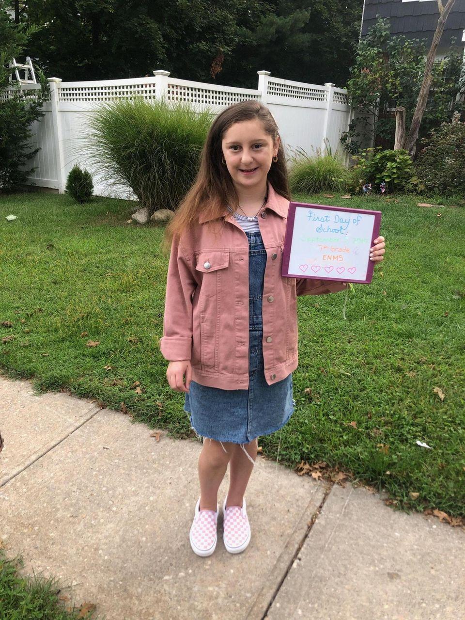 Ava Pizzarelli heading to the 7th Grade at