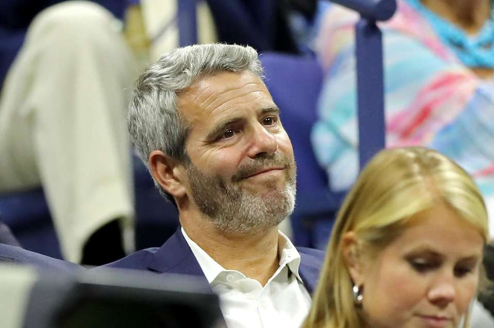 Andy Cohen watches Serena Williams vs. Elina Svitolina