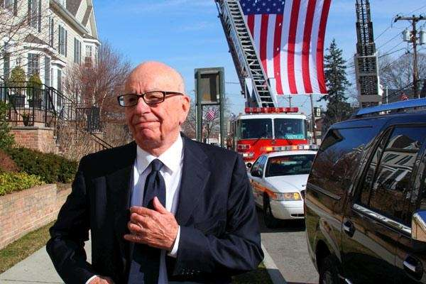 Rupert Murdoch arrives at the Oyster Bay Funeral
