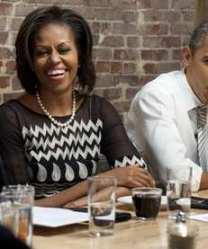 First lady Michelle Obama during a dinner with