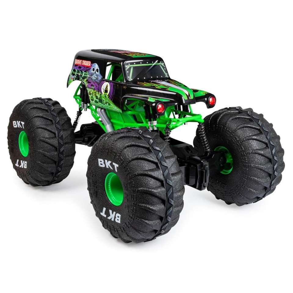 Grave Digger, an all-terrain remote control Monster Jam