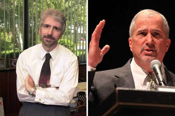 Michael Dawidziak, left, and Arnold Dodge are answering