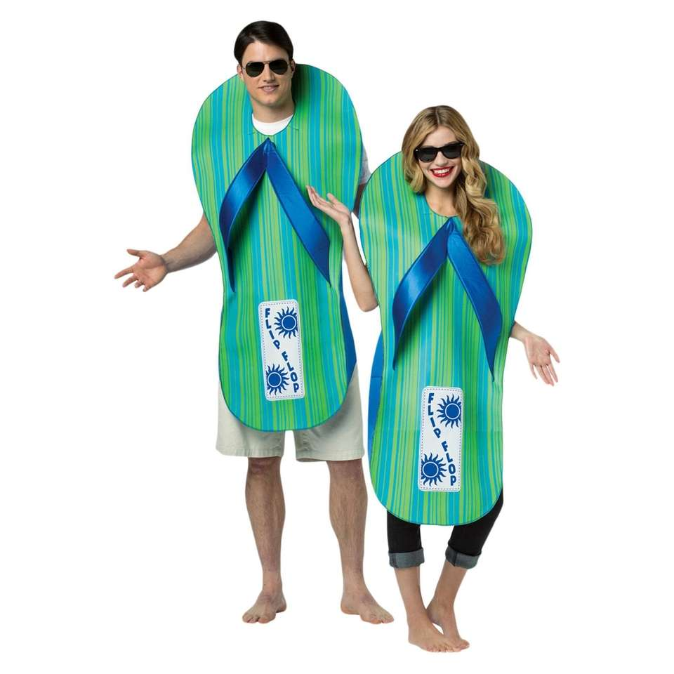 Pair up with your significant other and flip-flop