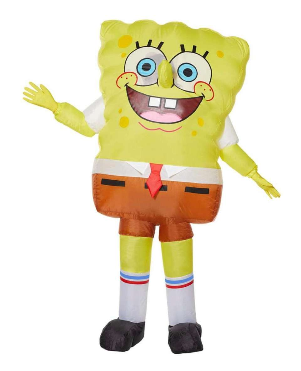 Transform into everyone's favorite sponge this Halloween with