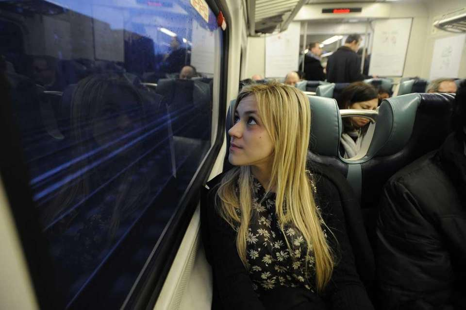 Victoria Grempel, 17, of Wantagh, watching the morning