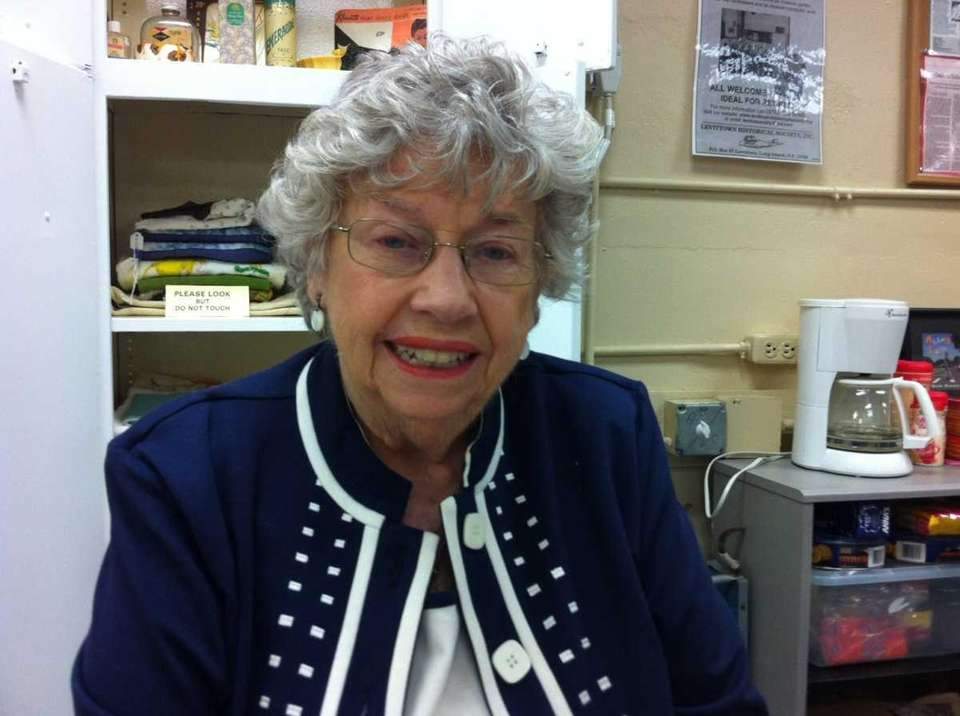 Polly Dwyer, 83, president of the Levittown Historical