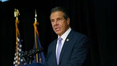 Gov. Andrew Cuomo in Baldwin on Aug. 13,