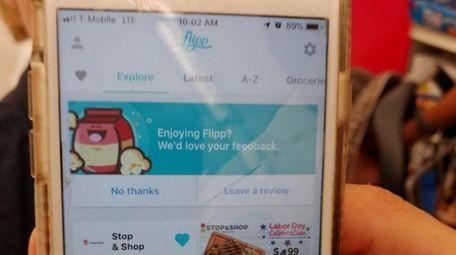 Levittown's Marissa Cifarelli uses the Flipp app on