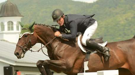 Rider Kevin Babington aboard Shorapur competes at the