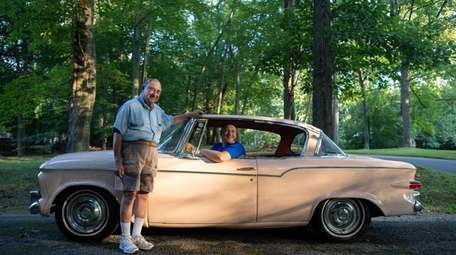 A rare pink 1959 Studebaker Lark ownded by