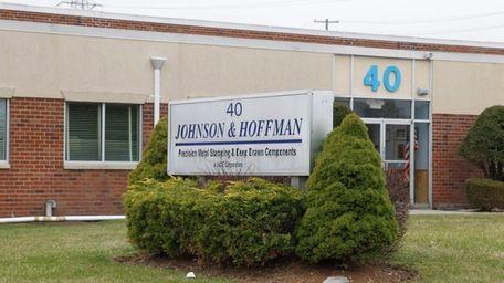 Metal-stamping company Johnson & Hoffman, seen on April