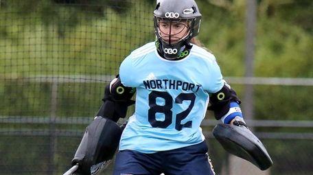 Northport goalie Hayley Hayden follows the ball in