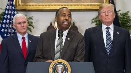 Secretary of Housing and Urban Development Ben Carson,