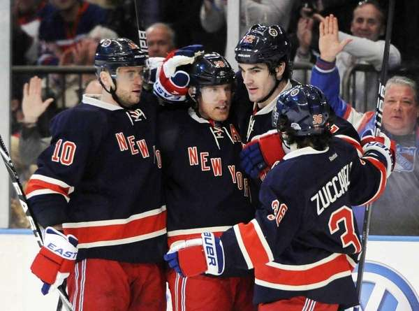 New York Rangers Marian Gaborik (10), Brad Richards