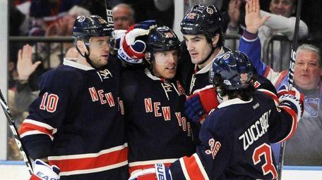 New York Rangers Marian Gaborik (10), Brad Richards