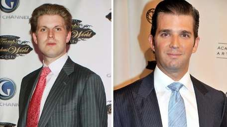 Eric Trump, left, and Donald Trump Jr. are