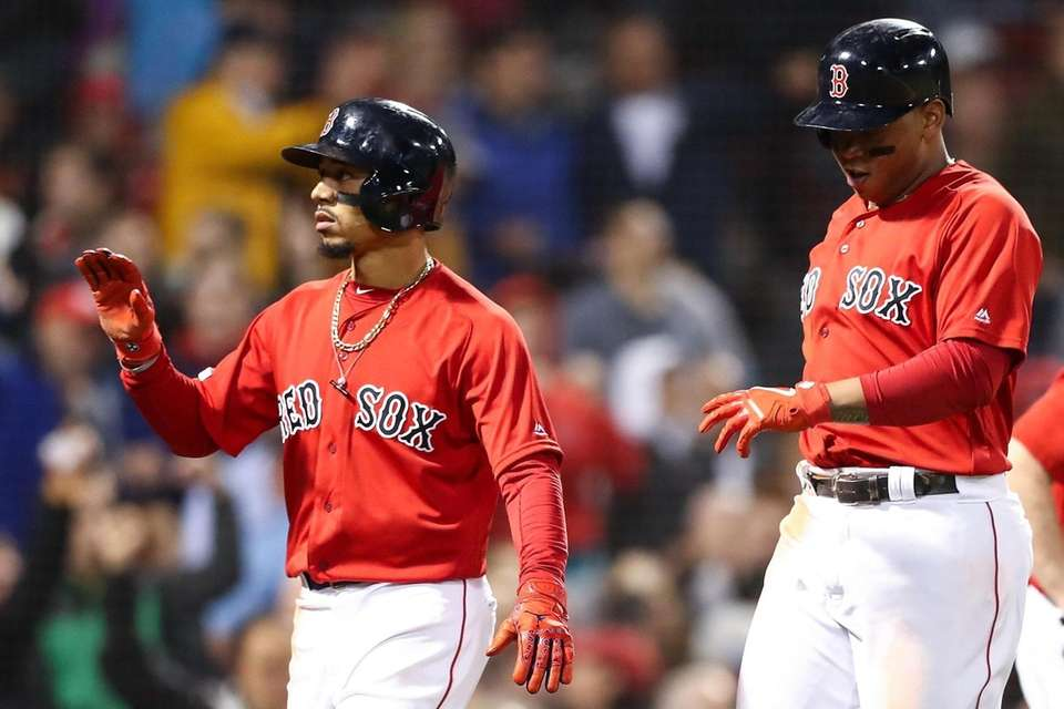 Mookie Betts of the Red Sox and Rafael