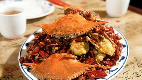 Deep-fried crabs in a spicy sauce at YAO'S