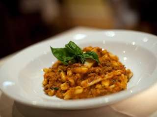 Cavatelli bolognese is served at Ciao Bella restaurant
