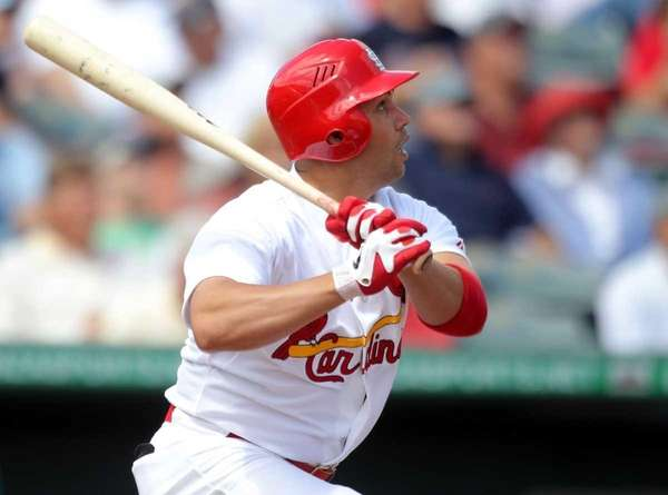 Carlos Beltran of the St. Louis Cardinals bats