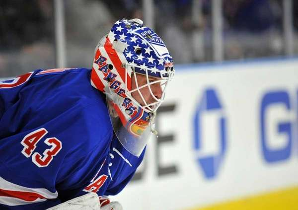Martin Biron played in place of an ill