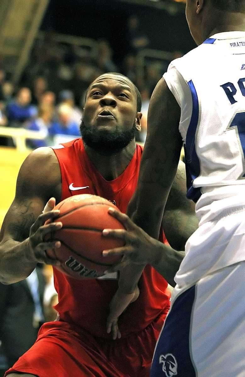 Stony Brook's Dallis Joyner gets underneath against Seton