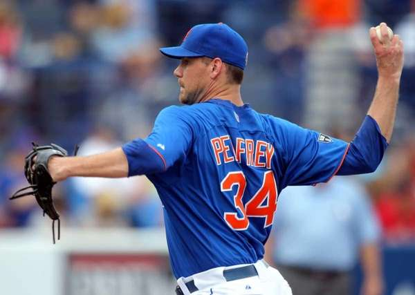Pitcher Mike Pelfrey of the New York Mets