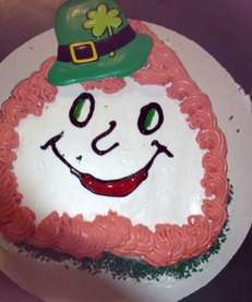 St. Patrick's Day ice cream cake at McNulty's