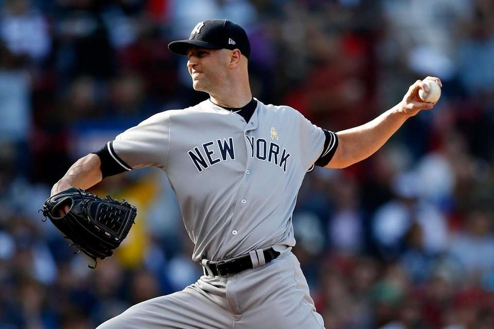 The Yankees' J.A. Happ pitches during the second