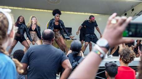 Afro Afriqué dance group performs at the Baldwin's