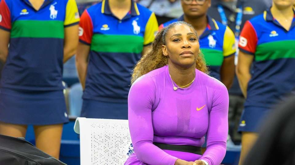 Serena Williams of America after losing to Bianca