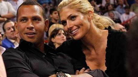 Undated photo of Alex Rodriguez and Torrie Wilson