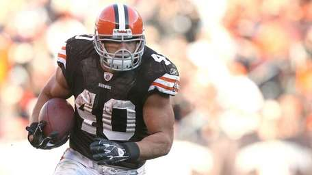 Running back Peyton Hillis of the Cleveland Browns