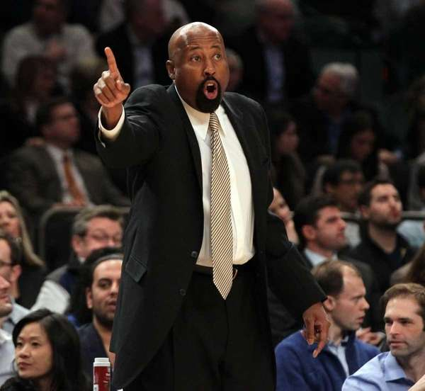 Interim head coach Mike Woodson of the New
