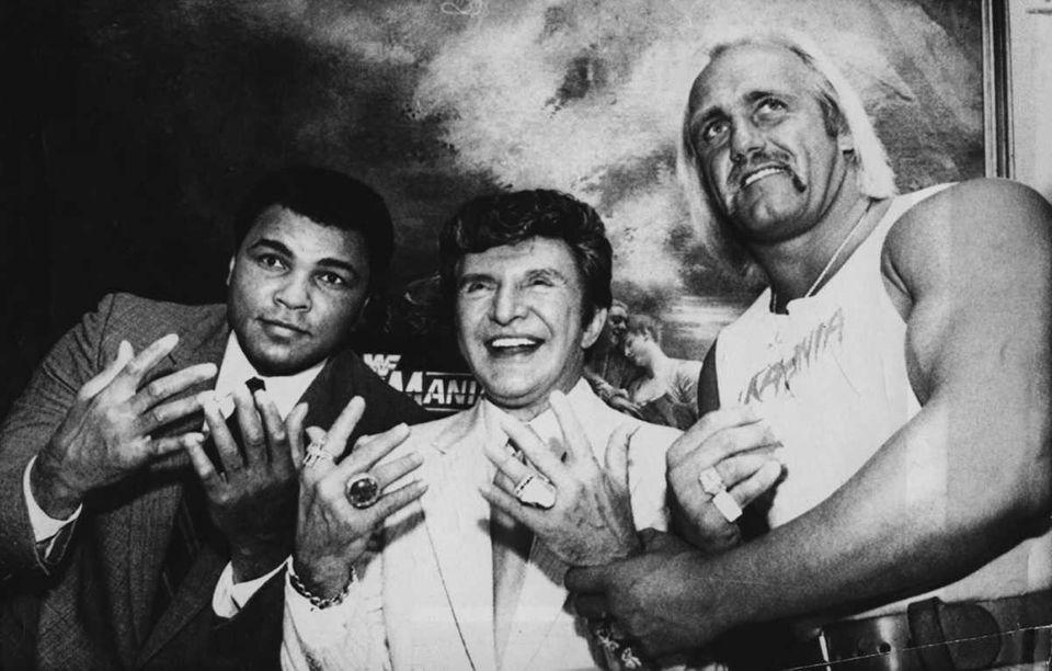 Muhammed Ali, Liberace, and Hulk Hogan get together