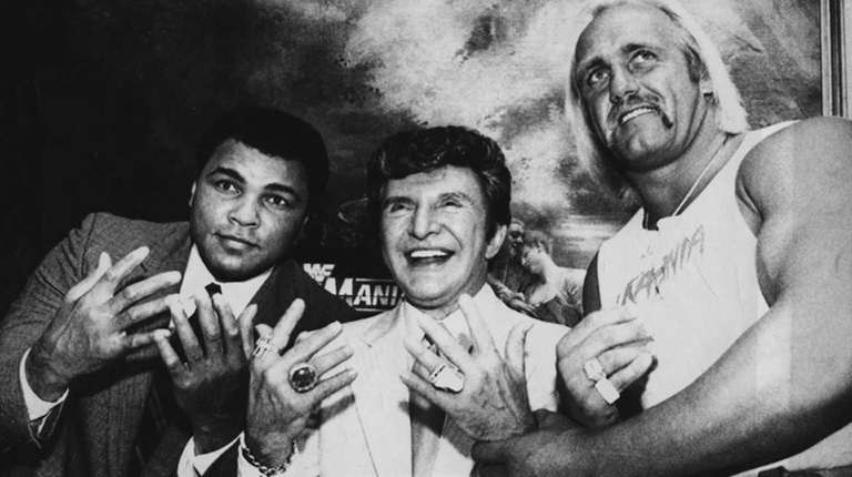 Muhammed Ali, Liberace, and Hulk Hogan get together