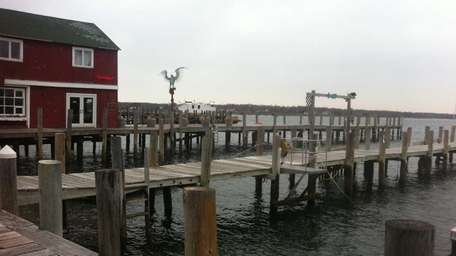 A file photo of docks in Greenport overlooking
